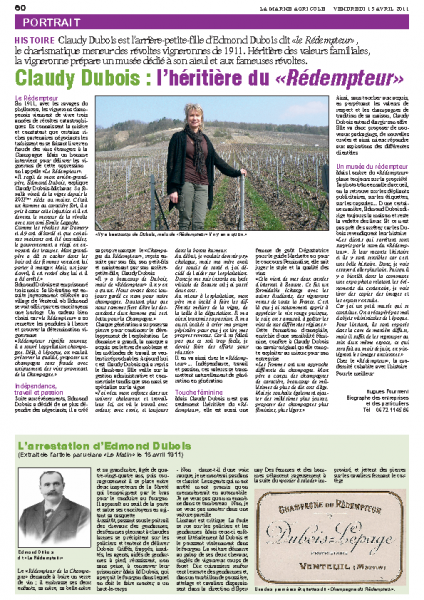 article Marne Agricole Avril 2011